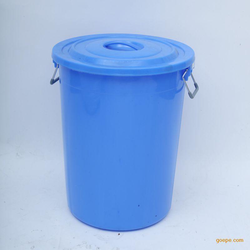 100l小区垃圾桶厂家常州塑料垃圾桶批发圆形塑料桶带