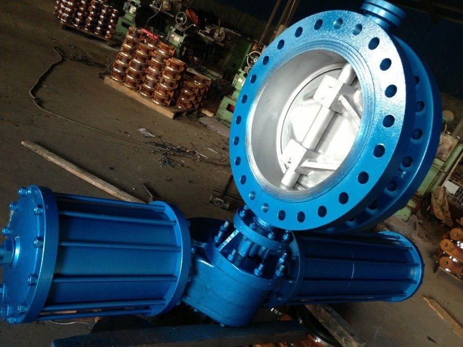 供应手动烟气蝶阀大口径重型阀门上海制造