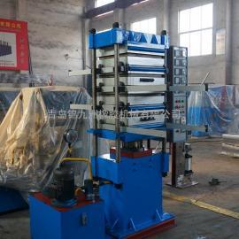 现货供应50t彩色橡胶地垫硫化机青岛橡胶地砖全套设备