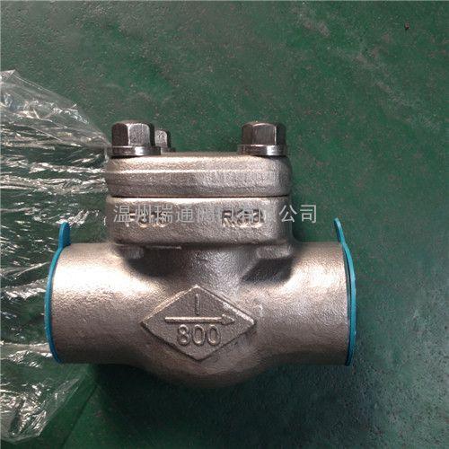 螺栓阀盖升降式锻钢止回阀 结构图1
