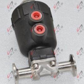 气动带手动隔膜阀常开式不锈钢304材质