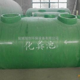 盐城厂家直供玻璃钢化粪池 二格式 地埋式frp化粪池 强度大