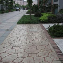 淮南彩色混凝土压模地坪|谢家集水泥压花地坪|凤台压印地坪