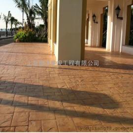 蚌埠彩色压花混凝土地坪|五河压模地坪做法|龙子湖仿石路面