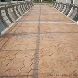 攀枝花彩色压模地坪价格 盐边压花水泥地坪 米易仿石压印地坪