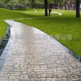 嘉兴彩色压模地坪材料|海宁广场混凝土压花路面|平湖艺术地坪