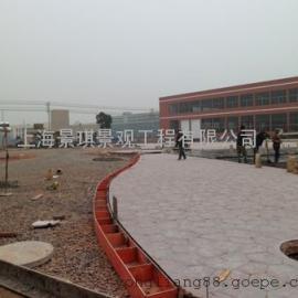 温州景观压花地坪|瓯海彩色水泥压模路面|瑞安仿石压印地坪