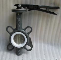 D71FP-16C手动不锈钢板衬氟铸钢蝶阀