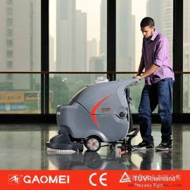 上海高美洗地机 全主动手推式标准电池洗地机 上海洗地机厂家