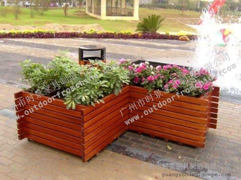 景区木制花箱