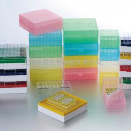 聚碳酸酯25格/81格100格液氮冻存盒|冷冻盒-196℃