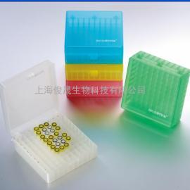 100格PP塑料耐低温连盖冻存盒/冷冻盒