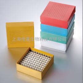 100格彩色纸质冻存盒|冷冻管盒