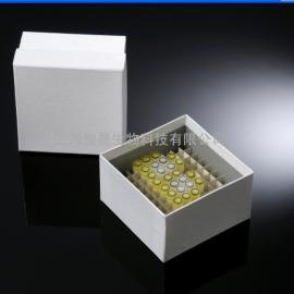 覆膜防水型纸质冷冻盒 3英寸100格纸质冻存盒