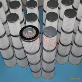 专业生产 锥形粉尘滤芯PTFE覆膜滤筒螺纹压盖除尘滤芯