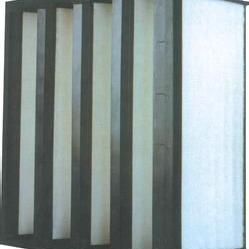 风机专用箱式V型高效过滤器