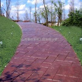 滁州彩色混凝土透水地坪|来安水泥压印地坪|明光仿石压模地坪