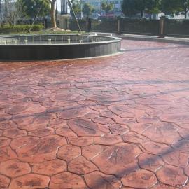 滁州耐磨压花地坪|天长压模地坪施工大抹刀|全椒压印水泥地坪