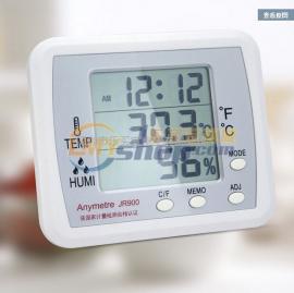 电子温湿度计 高精度家用室内温湿度计 带时钟功能 美德时 JR900