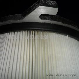 覆膜PTEF粉尘滤筒 聚酯纤维防水防爆粉尘滤筒长期供应