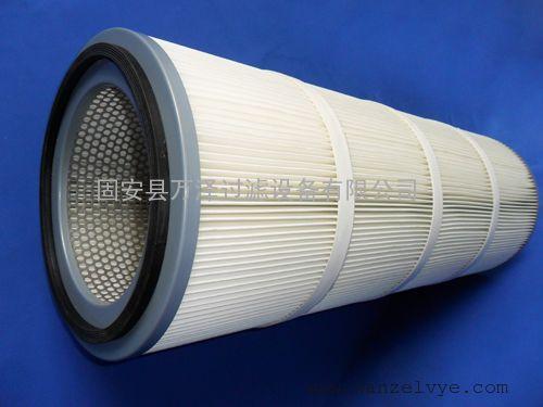 覆膜粉尘滤筒 PTEF聚酯纤维万泽粉尘滤筒