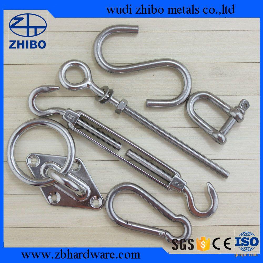 厂家生产不锈钢遮阳棚配件吊环 遮阳棚配件菱形门扣