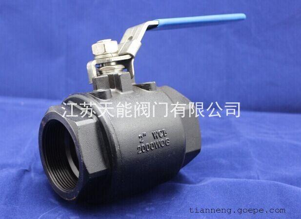 碳钢二片式内螺纹球阀q11f-2000wog图片