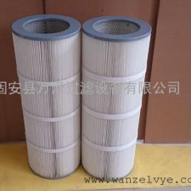 喷砂房聚酯纤维滤筒 喷粉台防水防油粉尘滤筒