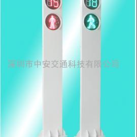 供应天盈网投交通信号灯,3.5M一体式广告人行信号灯