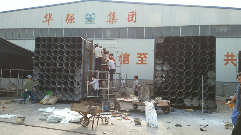 江苏永钢炼钢厂应用高效废气除尘设备/大机组湿式电除尘脱硫塔