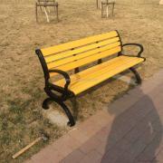 常熟铸铝塑木休闲椅-高档户外休闲椅-铸铝公园椅