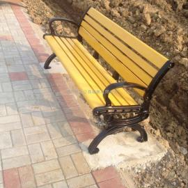 吴江铸铝塑木休闲椅-高档户外休闲椅-铸铝公园椅