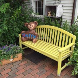 昆山铸铝塑木休闲椅-高档户外休闲椅-铸铝公园椅