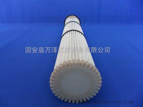 150×2000高效聚酯纤维粉末滤芯粉尘滤筒报价