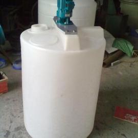 500升搅拌罐塑料搅拌罐 聚乙烯搅拌罐 500L耐酸碱搅拌桶