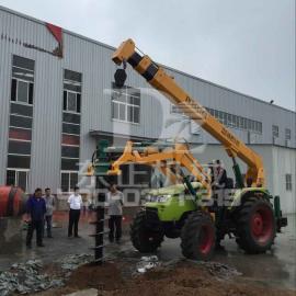 挖坑立杆一体机郑州东正挖坑机厂家