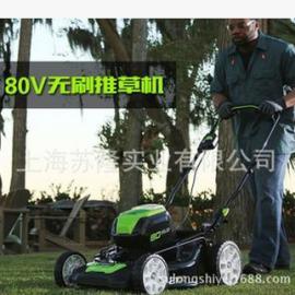 格力博80V电动割草机 21寸手推式充电草坪机 锂电打草机