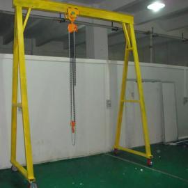 东莞轻型龙门架,移动式龙门吊架,吊1吨的龙门架