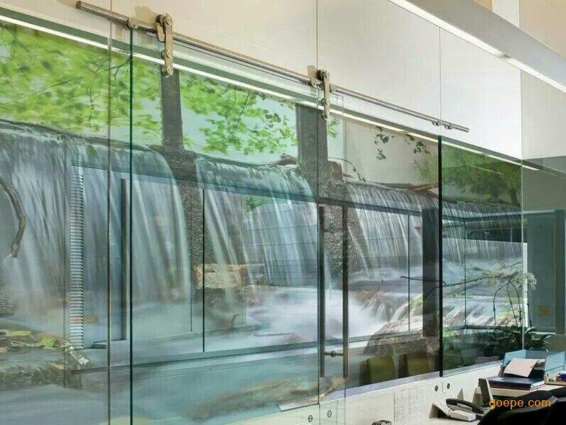 欧式窗户喷绘效果
