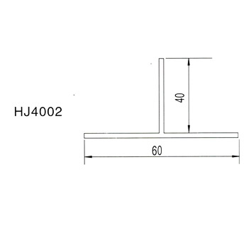 40*60T梁|HJ40022|净化铝材|铝材配件|厂家直销|本色/喷塑/电泳