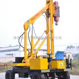 液压公路护栏打桩机 钻孔机 拔桩机―徐州恒兴专业制造打桩机