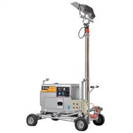 5kw发电机带移动照明灯
