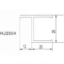25*25老式窗料|净化铝材HJ2504|本色/喷塑|铝材配件|净化铝材配件