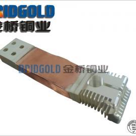 长期供应高压电器铜箔软连接 可根据用户要求加工各种非标软连接