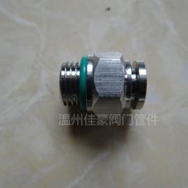 精品优质PC8-02,G螺纹不锈钢直通快插气动气管接头