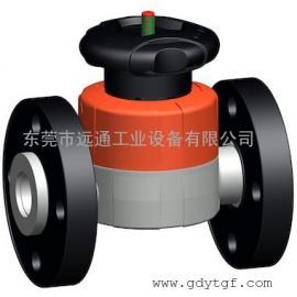 瑞士+GF+手动隔膜阀 517型隔膜阀PVC-C