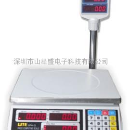 联贸电子秤 计价秤 UPA-QT红字带立杆计价桌秤