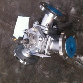 Q42F不锈钢Y型三通球阀