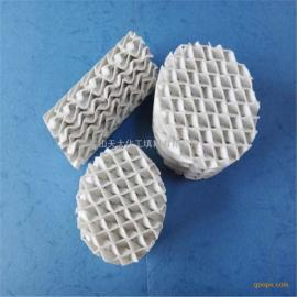 陶瓷规整填料 陶瓷波纹填料 精馏用波纹填料 昆山天大厂家直供