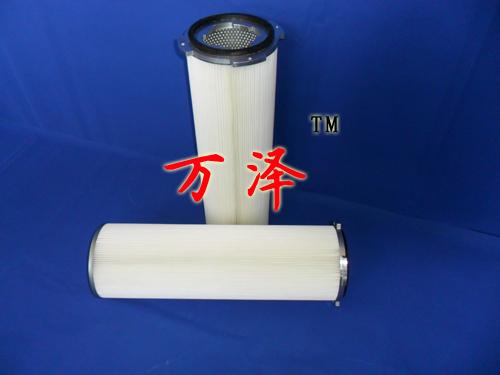 PTEF长纤维粉尘滤筒 白色无纺布防油耐腐蚀粉尘滤筒长期供应